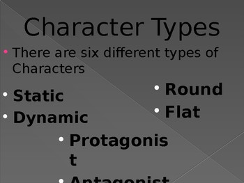 Character Types PowerPoint