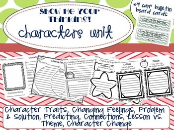 Character Unit Printables - Common Core Aligned