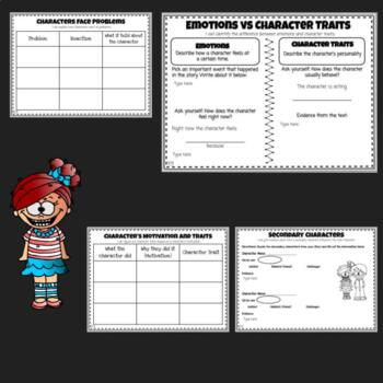 Character Study Graphic Organizers