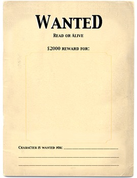 Character Wanted Poster