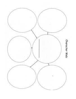 Character Web: Printable, Projectable, Use with Any Book