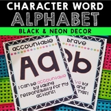 Character Word Alphabet Posters