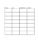 Character Work Sheet / Graphic Organizer