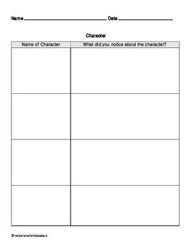 Character Worksheet