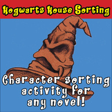 Character activity for ANY novel: fun Hogwarts Sorting Hat printables