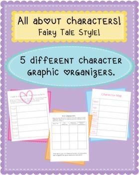 Character analysis-graphic organizers!