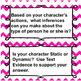 Character anaylsis response packet