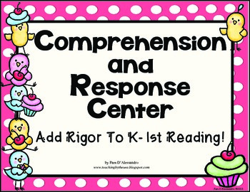 Comprehension Spinners - Great for Centers for K-1st Commo