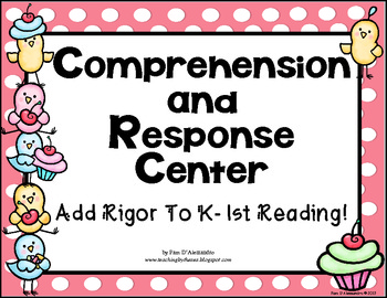 Character and Comprehension Spinners for K-1st Common Core Aligned