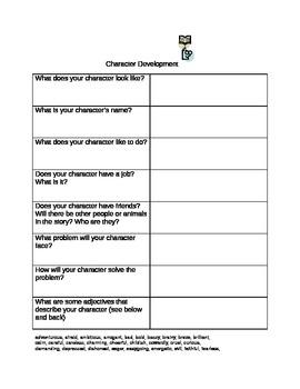 Character and Plot Development Graphic Organizer