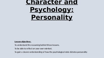 Character and Psychology for Creative writing