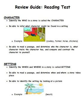 Character and Setting Assessment