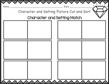 Character and Setting Cut and Sort 2
