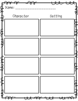 Character and Setting Cut and Sort