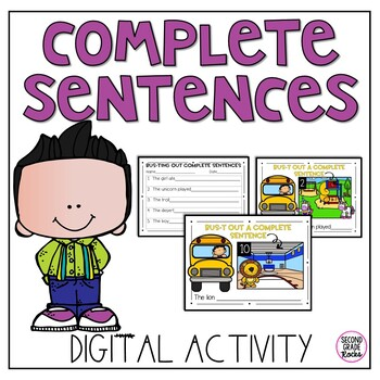 Character and Setting Digital Interactive Notebook