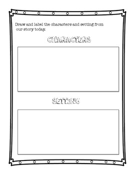 Character and Setting Exit Ticket