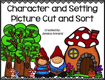 Character and Setting Picture Cut and Sort