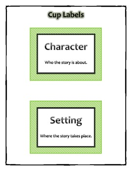 Character and Setting Popsicle Sticks Literacy Center Activity