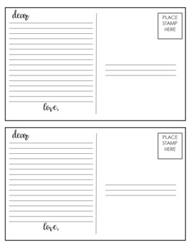 Character and Setting Postcards for ANY TEXT: Engage activity for POV & setting