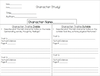 Character and Setting Practice, Read aloud Activity