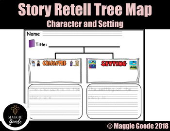 Retell Tree Map- Characters and Setting Graphic Organizer