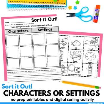 Characters And Setting Worksheet Kindergarten