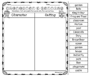 Character and Setting Sort