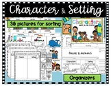 Character Setting Sort and Graphic Organizers (Bundle)