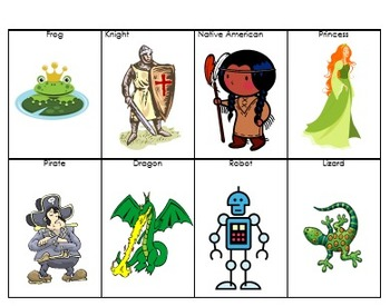 Character and Setting Sorting Cards part 2