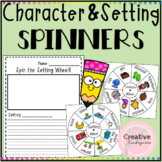 Character and Setting Spinners! For Writing Centers and Writer's Workshop