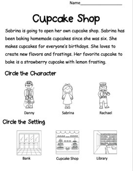 Character and Setting Visual Support Worksheets (VAAP Resource)