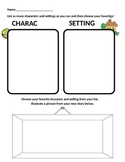 Character and Setting Worksheet-Create Your Own Story