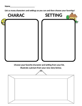 Character And Setting Worksheet - Sharebrowse