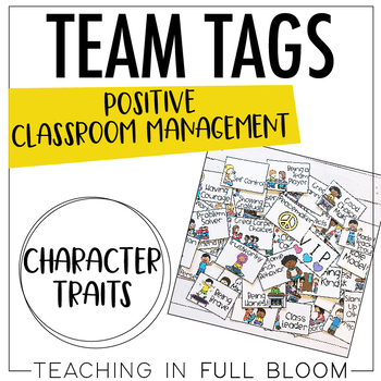 Character and Social Emotional Skills Reward Team Tags Bright and White