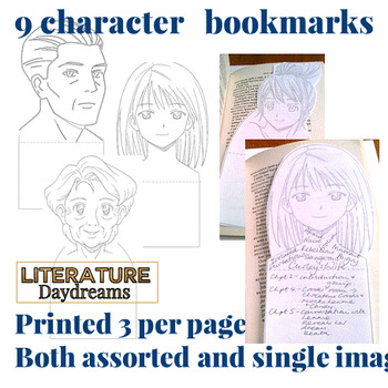 Character Analysis bookmarks, foldables and worksheets (for any text)