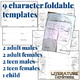 Character Analysis bookmarks, foldables and worksheets (fo