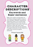 Character description keywords - DISTANCE LEARNING: Price cut