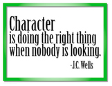 Character is... Motivational Poster Print Free Download #kindnessnation
