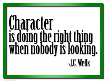 Character is... Motivational Poster Print Free Download #k