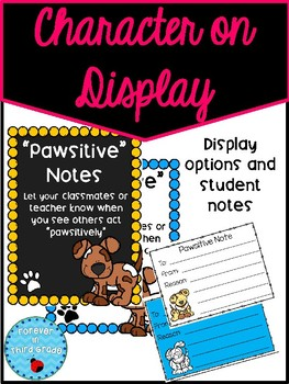 Character on Display - Pawsitive Notes