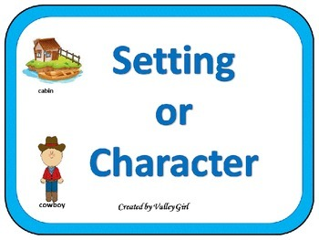 Character or Setting: Quiz, quiz, trade game