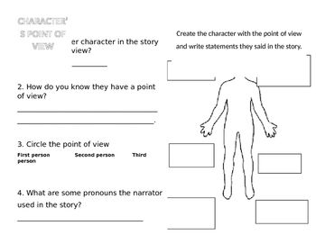 Character point of view worksheet by Jimenez 2ND Grade | TpT