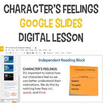 Character's Feelings Digital Lesson