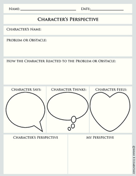 Character's Perspective Graphic Organizer