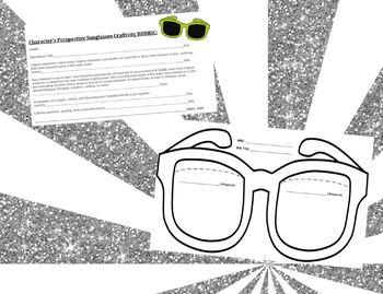 Character's Perspective Sunglasses Craftivity-GoogleSlidesLink