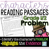 Character's Reading Passages 1st/2nd Grade ~ Focus on  a Character's PROBLEM