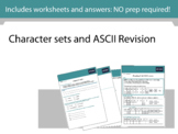Character sets and ASCII Revision - Computing