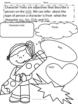 Character trait graphic organizer