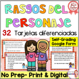 Character traits in Spanish/Rasgo del personaje/inferir