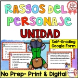 Character traits in Spanish/Rasgo del personaje/inferir/Bundle
